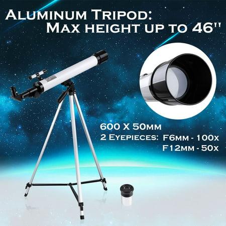 50mm Kids Beginners Astronomical Refractor Telescope Spotting Scope Refractive Eyepieces Tripod (Telescopes For Kids)