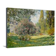 Landscape: The Parc Monceau, 1876 Stretched Canvas Print Wall Art By Claude Monet