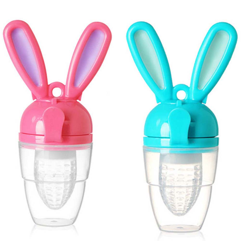 Baby Food Feeder - Fresh Food & Fruit Feeding Pacifier in Appetite Stimulating Colors