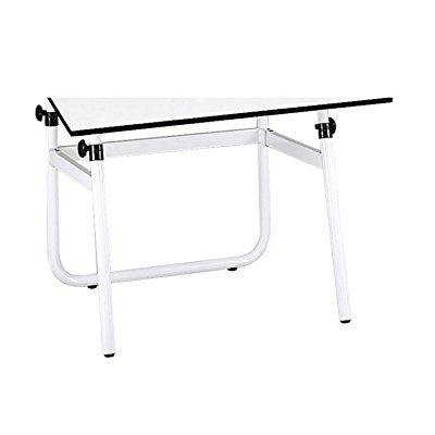 safco products 3961 horizon drawing table base for use with 3951 table top, sold separately, white