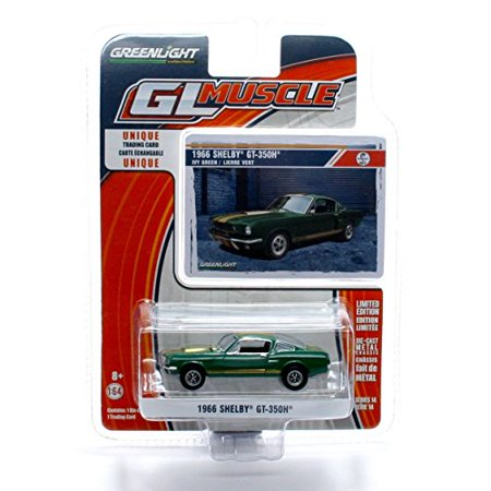GL Muscle 1966 Shelby GT-350H (Ivy Green) Series 14 2015 Greenlight Collectibles Limited Edition 1:64 Scale Die-Cast Vehicle & Collector Trading Card - image 1 of 3