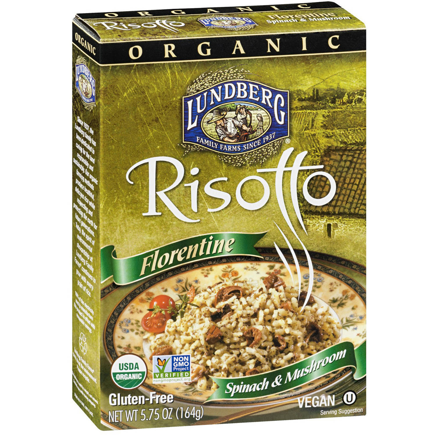 Lundberg Family Farms Family Farms Organic Risotto Florentine, 5.75 OZ (Pack of 6)