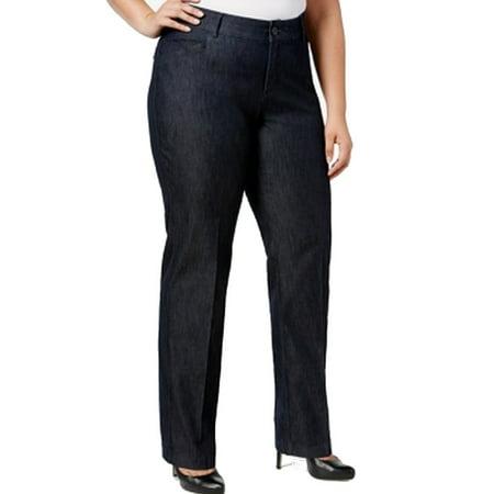 Lee Womens Plus Denim Button-Front Casual Pants - Lee Casual Pant
