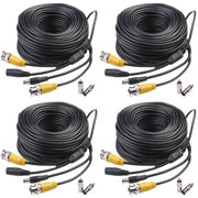 Masione 4x100ft Camera CCTV Security Cable Wired Cord BNC DVR Home Surveillance Security Camera Wire
