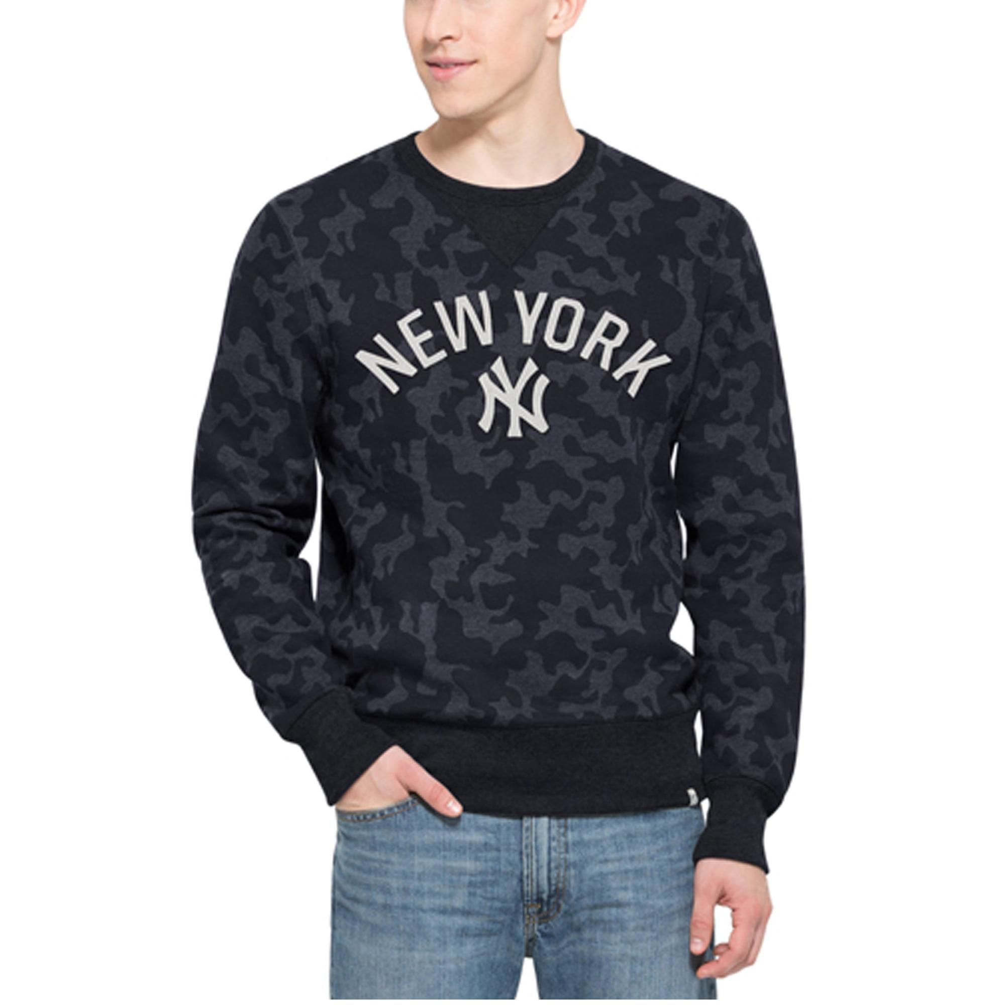 New York Yankees '47 Brand Stealth Camo Crew Sweatshirt - Navy