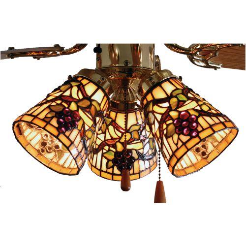 "Meyda Tiffany 67013 4"" W Jeweled Grape Fan Light Shade by Meyda Tiffany"