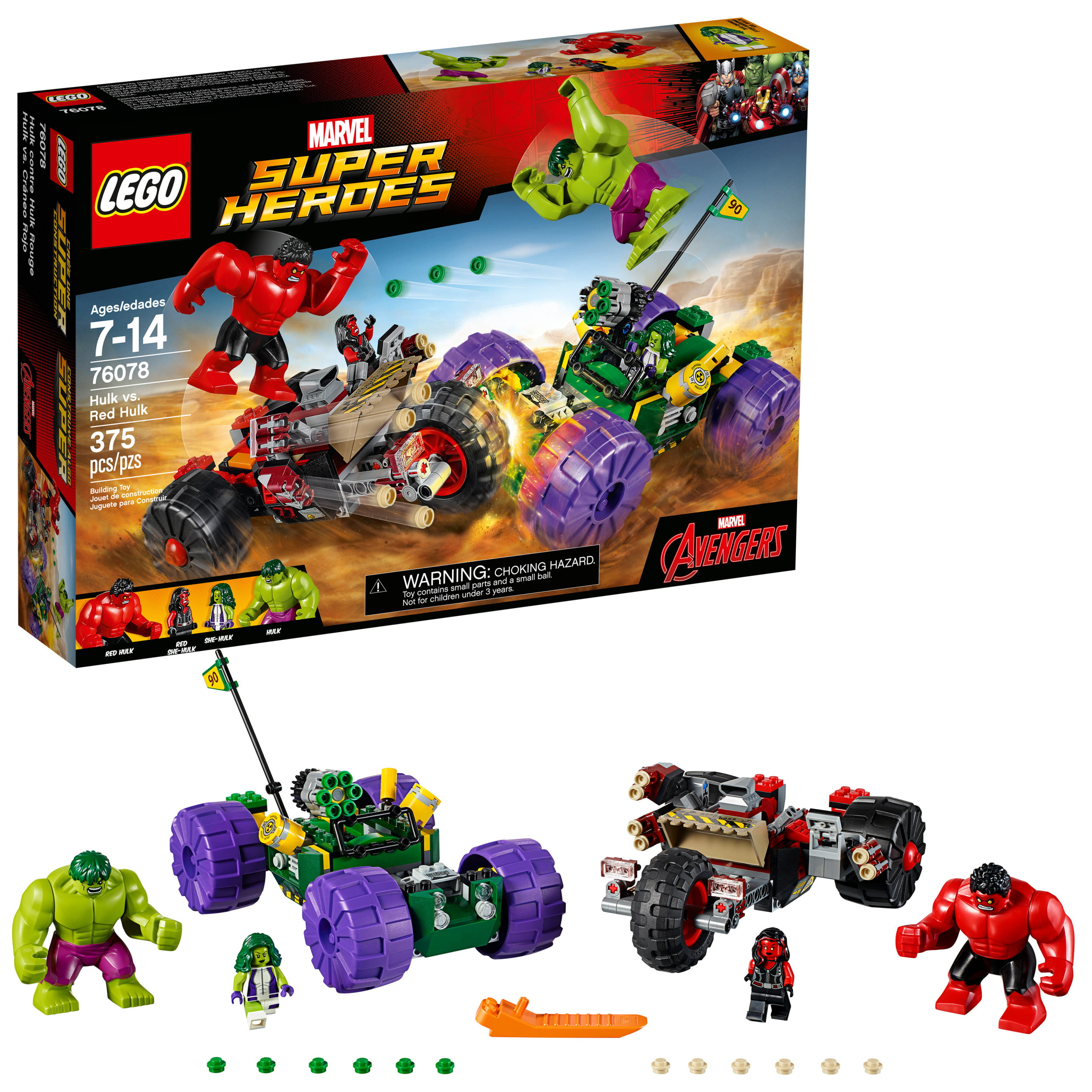 LEGO Super Heroes Hulk vs. Red Hulk 76078 (375 Pieces)