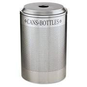 Rubbermaid Commercial Silhouette Can Bottle Recycling Receptacle, Round, Steel, 26gal, Silver by RUBBERMAID COMMERCIAL PROD.