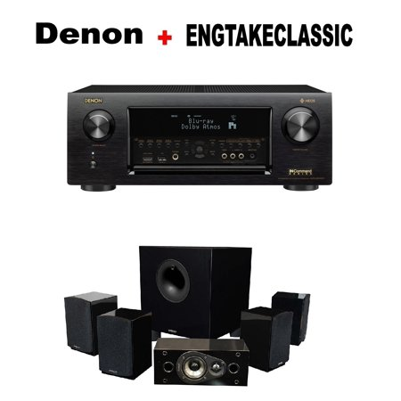 Denon AVR-X4400H 9 2 Channel AV Receiver with Wi-Fi, Dolby Atmos, DTS:X and  HEOS + Energy 5 1 Take Classic Home Entertainment System (Set of Six,
