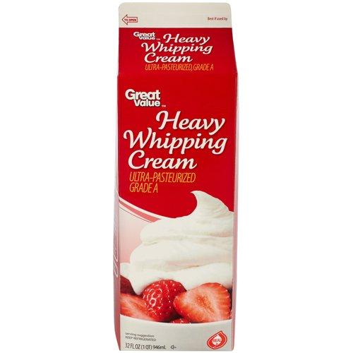 Great Value Heavy Whipping Cream, 32 oz - Walmart.com