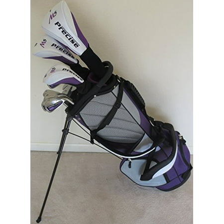 Petite Womens Complete Golf Clubs Set for Ladies 5ft to 5ft 6in Tall Custom Fit Driver, Wood, Hybrid, Irons, Putter, Stand Bag