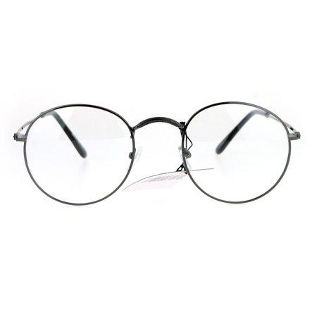 d6ac8ef5a88 Sa106 90s Round Wire Rim Nerdy Vine Clear Lens Eye Glasses