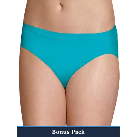 Fruit of the Loom Women's 6+2 Bonus Pack Assorted Breathable Micro-Mesh Bikini Panties