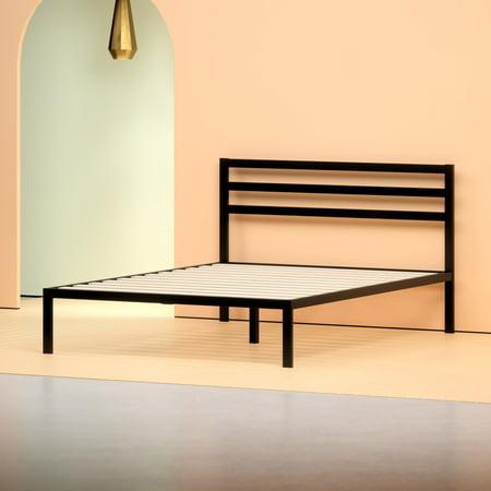 Zinus Mia 14 Quot Black Metal Platform Bed With Headboard