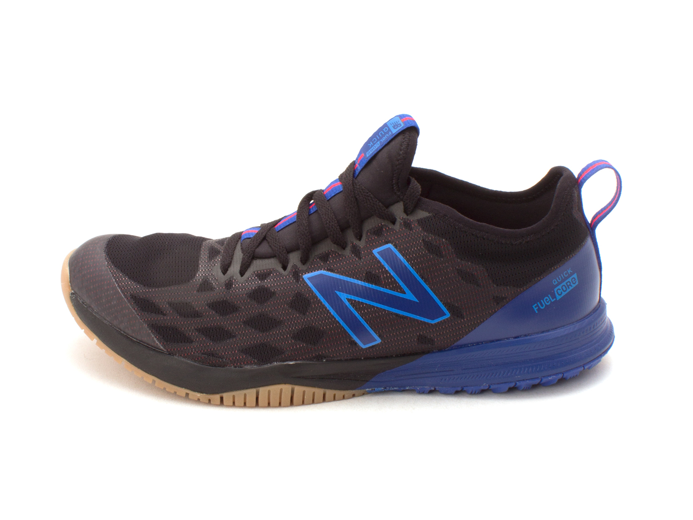 06f312ae4a0fb New Balance Mens hommes Fabric Low Top Lace Up, Black/blue/red ...