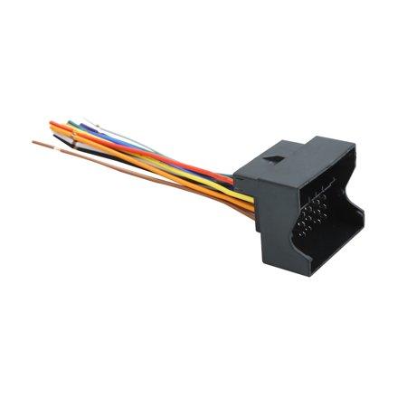 DC 12V Car DVD Radio Wire Harness Adapter Plug Connector for Ford Radio Wire Harness Adapter on