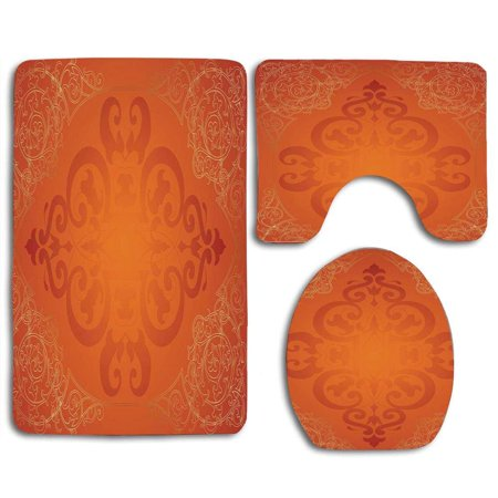 Gohao Orange Royal Antique Motifs Victorian Swirls Vintage