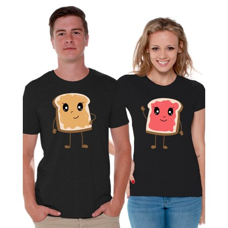 Awkward Styles Matching Shirts for Couples Valentine's Day Gifts Peanut Butter and Jelly T-shirts for Couples 2019 Valentine's Day Gifts from Girlfriend Gifts for Boyfriend Couples Shirts ()
