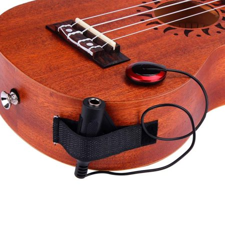 Acoustic Piezo Contact Microphone Pickup for Guitar Violin Mandolin Ukulele (Acoustic Record Guitar Mic)