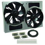 Derale Performance 16826 Gray/Black High Output Dual Radiator Fan