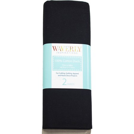"Waverly Inspirations Cotton Duck 45"" Black Fabric, 2 Yds."