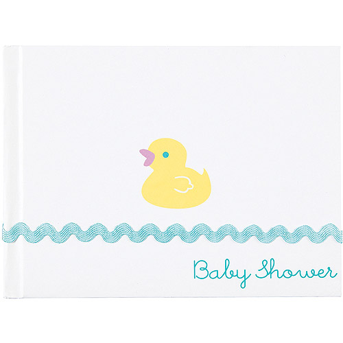 "Baby Shower Guest Book 7.6""X5.75""-Rubber Ducky"