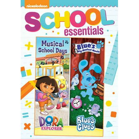 DORA & BLUES CLUES DOUBLE FEATURE-DORA MUSICAL SCHOOL DAYS & BLUES BIG MUSI (DVD) - Halloween Blues Clues