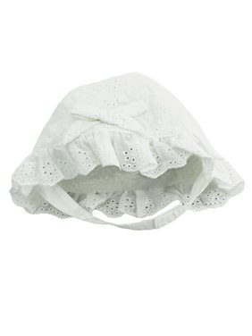 e09f1b11 Product Image Little Me Infant Girls Eyelet Sun Hat with Chin Strap- White  - 12-24