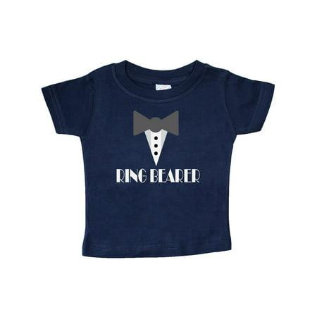 Ring Bearer Mock Tux Tuxedo Baby T-Shirt - Ring Bearer T Shirt