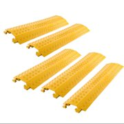 5-Pack Bundle of High Traffic Pedestrian Light Equipment Drop-Over Cable Cover Ramps