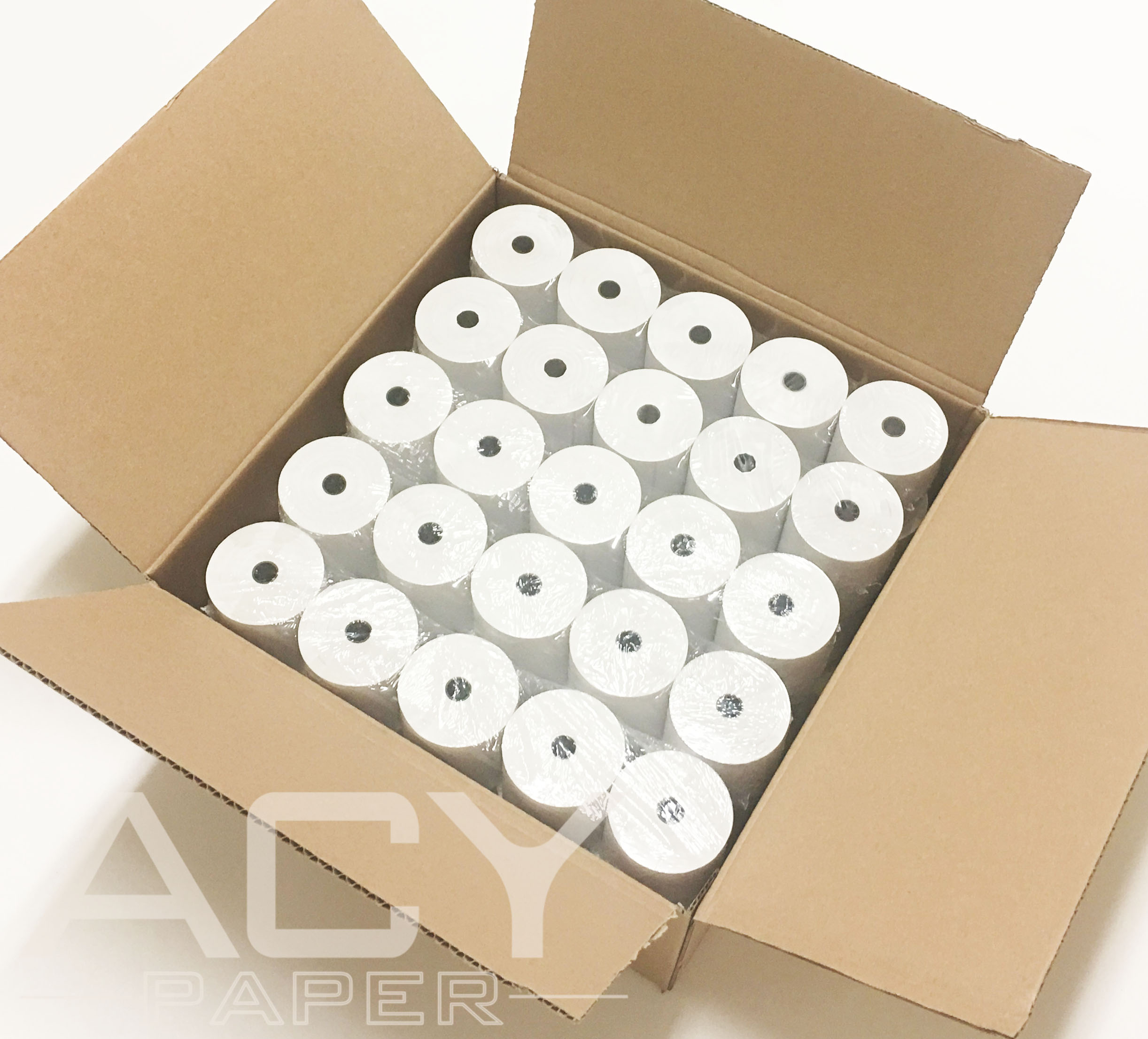 ACYPAPER, 3 1/8 x 230' Thermal Paper Rolls, For Cash Register (POS). BPA Free (50 Rolls)