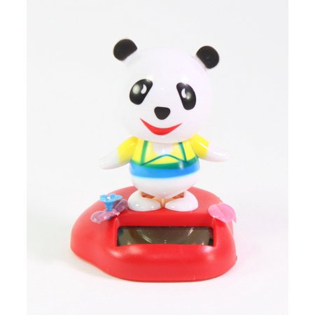 Dancing Panda in a Meadow Nice Clothes Solar Toy Home Decor Birthday Gift US Seller (Solar Dancing Toys)
