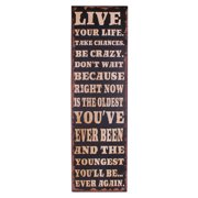 Attraction Design Home ''Live Your Life. Take Changes. Be Crazy'' Antique Wisdom Sign Wall D cor