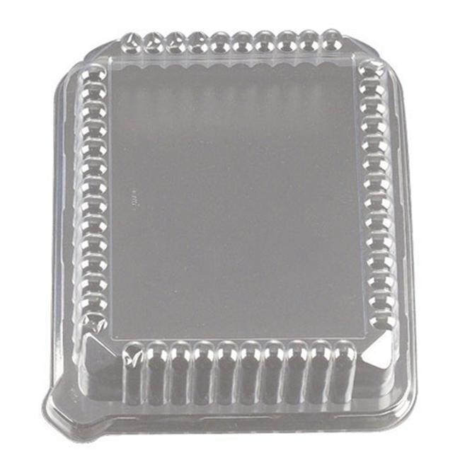 EMI Yoshi EMI-108LP 10 inch X 8 inch Rectangular Clear Lid - Pet - Pack of 50