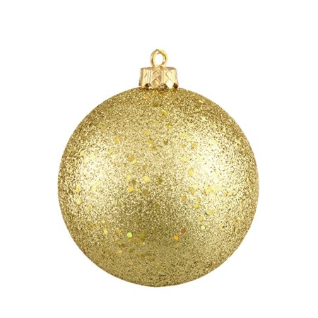 Vegas Gold Holographic Glitter Shatterproof Christmas Ball Ornament 4