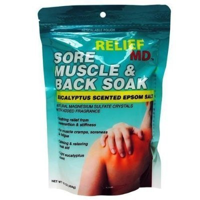 Relief MD Sore Muscle & Back Soak Eucalyptus Scented Epsom Salt, 16