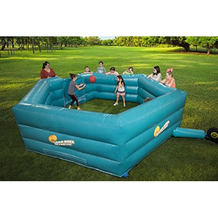 Gacha Ball (Gaga Ball Pit Inflatable 15 Gagaball Court w Electric Air Pump - Inflates in Under 3)