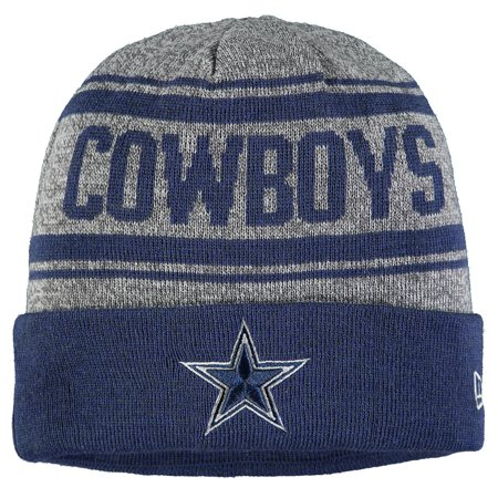 Dallas Cowboys New Era Stated Cuffed Knit Hat - Gray - OSFA