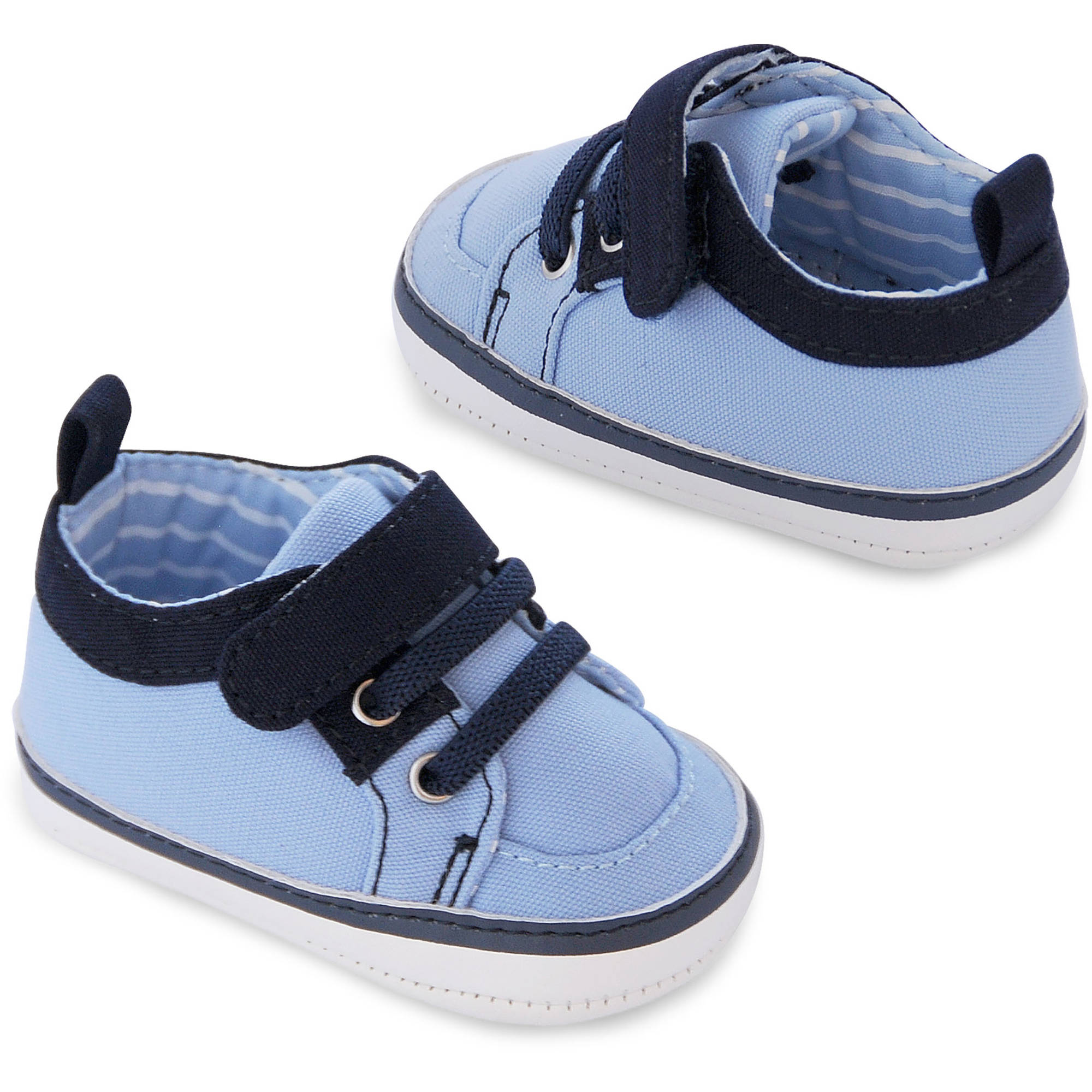 Child of Mine by Carter's Newborn Baby Boy Velcro Sneakers, 0-3M