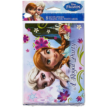 Frozen Party Invite and Thank You Combo, - Frozen Thank You