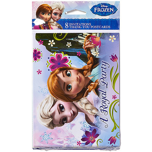 Frozen Party Invite and Thank You Combo, 8ct