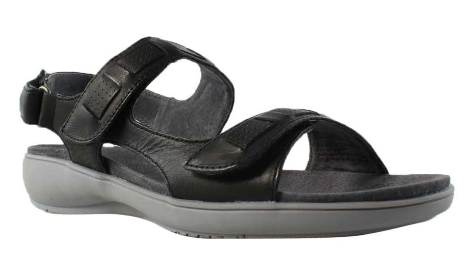Trotters Womens Black Strap Sandals Size 6 New by Trotters