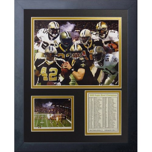 Legends Never Die New Orleans Saints 2009 Champs Framed Memorabili