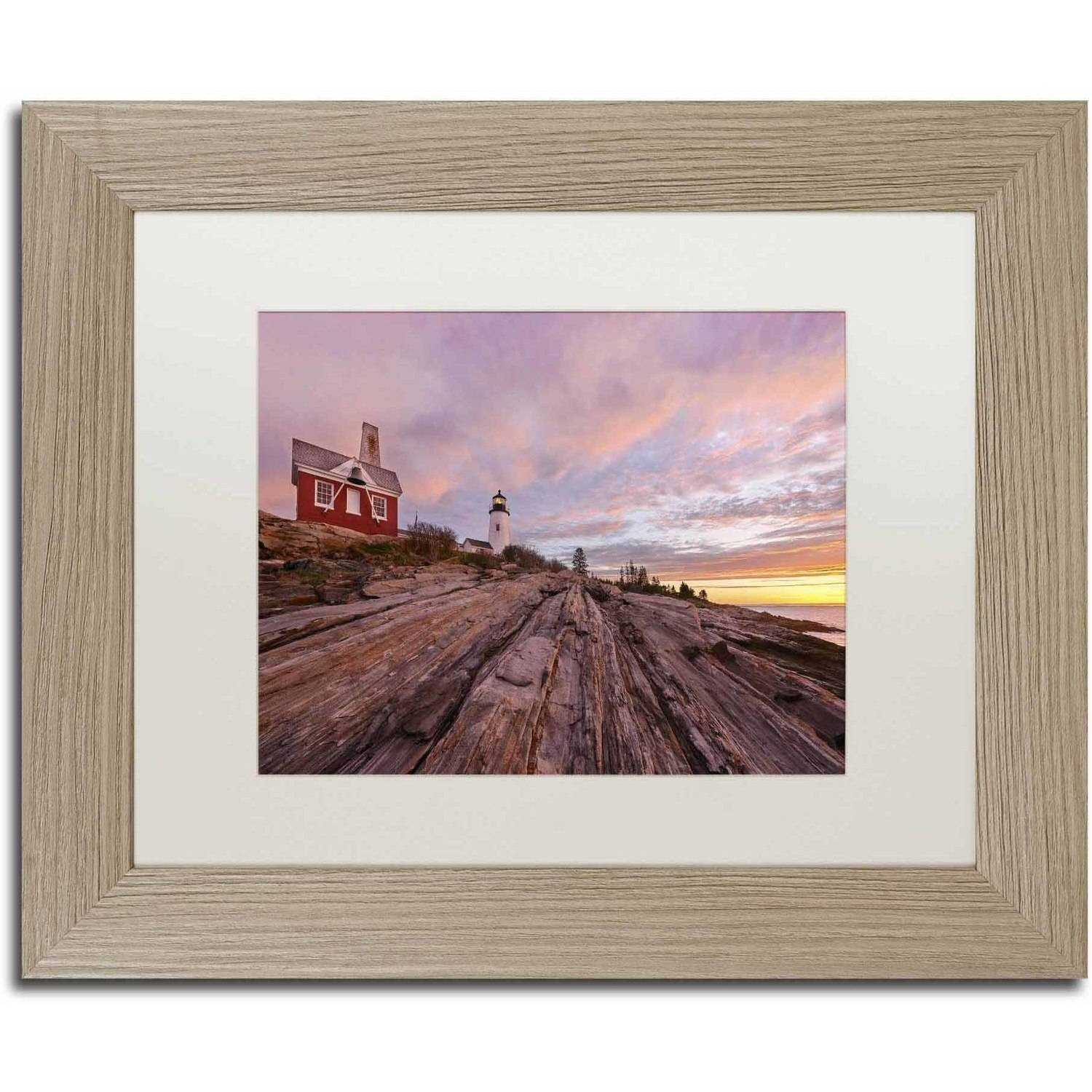 Trademark Fine Art 'Granite Marvel' Canvas Art by Michael Blanchette Photography, White Matte, Birch Frame