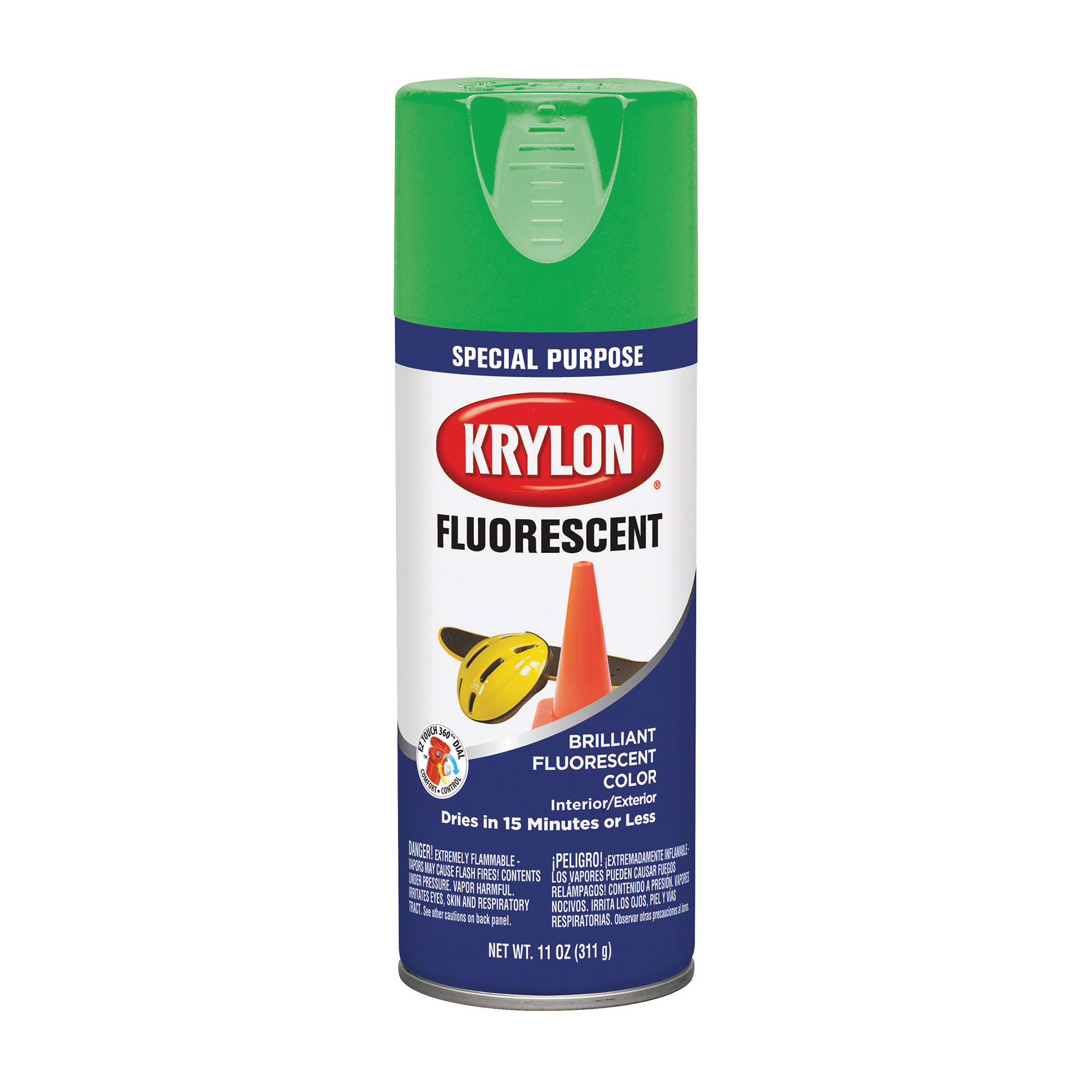 Krylon Fluorescent Paint Green, 11 oz