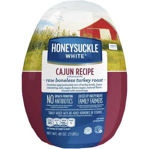 Honeysuckle White Frozen Cajun Recipe Boneless Turkey Roast, 3 lb