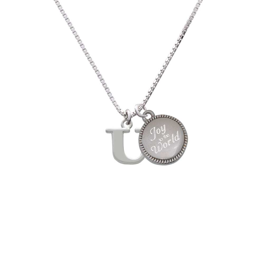 Delight Silvertone Large Initial - U - Joy to the Word Ne...