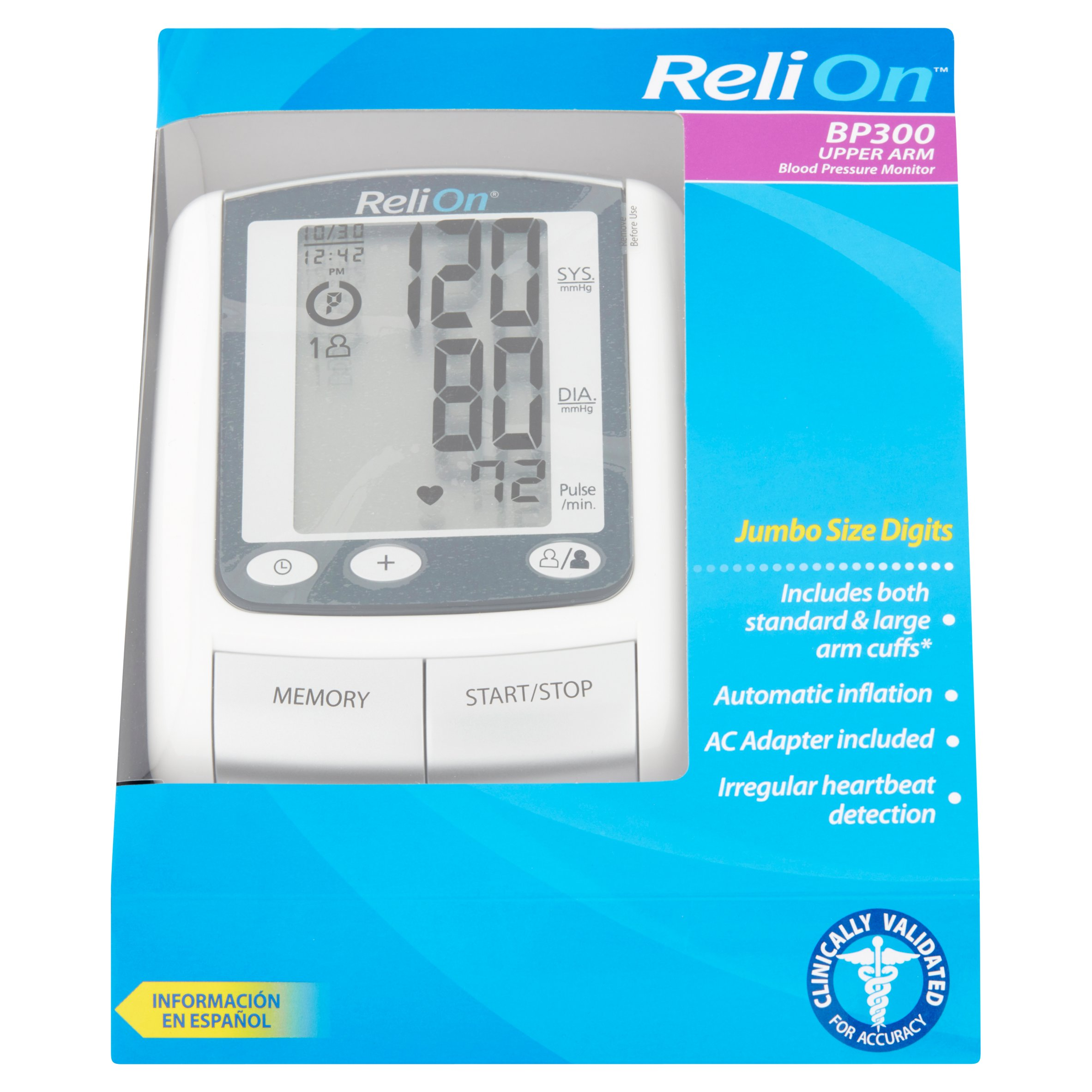 ReliOn BP300 Upper Arm Blood Pressure Monitor