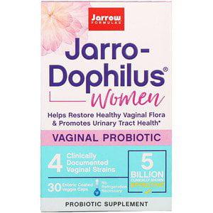 Jarrow Formulas, Jarro-Dophilus, Vaginal Probiotic, Women, 5 Billion, 30 Enteric Coated Veggie Caps (Pack of (Best Enteric Coated Probiotics)