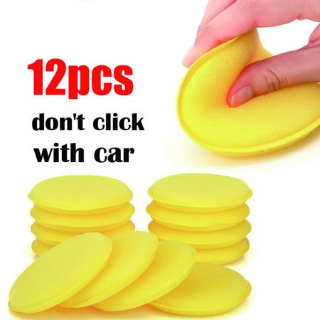 12pcs Sponges Car Wash Detailing Wax Polish Foam Sponge for Car Glass Washing - image 3 of 6